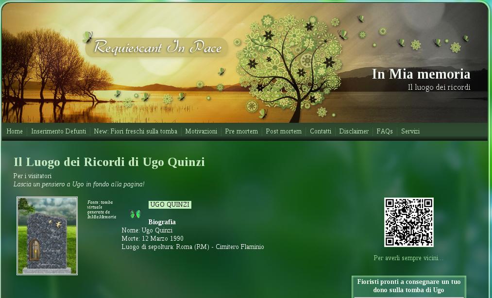 Ugo Quinzi morto